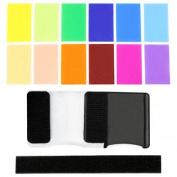 Godox 12 Color Gel Flash Filter Set with Fastener