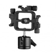 Selens Tripple Cold Shoe Splitter Mount Adapter with Ballhead and umbrella holder for Photo Studio Accessories
