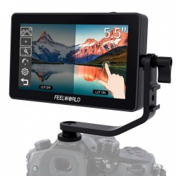 Feelworld F6 Plus 5.5 Inch 3D LUT TouchScreen Field Monitor with 4K Support for DSLR Cameras and Gimbal Stabilizers