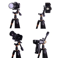 QZSD Q08 Videography Tripod Pan and Tilt Head with Quick Release Plate and Rocker Arm
