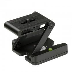 Z-Folding Pan Tilt Universal Tripod Head Bracket with Quick Release Plate