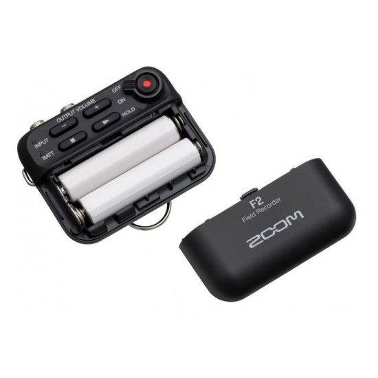 Zoom F2 Small-sized Field Recorder with Lavalier Microphone
