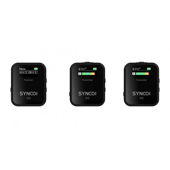 Synco WAir G2 (A2) 2 Person Wireless Lavalier Microphone System for DSLR/Mirrorless Cameras