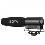 BOYA BY-DMR7 Shotgun Condenser Microphone with Integrated Flash Recorder & LCD Display for DSLRs and Video Cameras