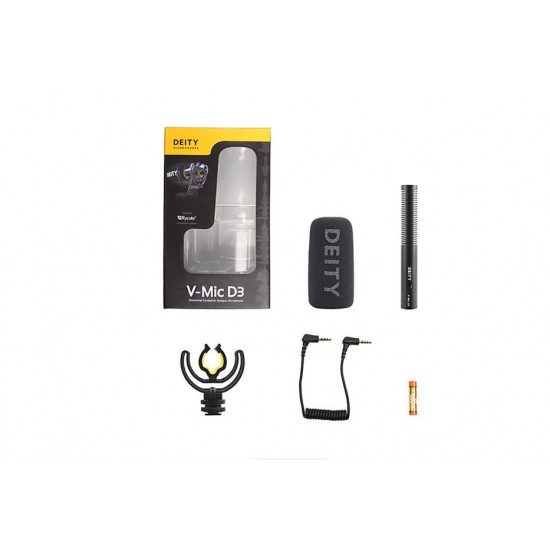 Deity V-Mic D3 Unidirectional Camera-Mount Shotgun Microphone with Rycote Shockmount