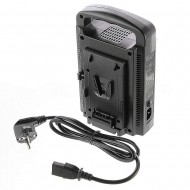 V-Mount/V Lock BP 2CH Dual Quick Battery AC Charger with DC 16.8V Power Supply Output
