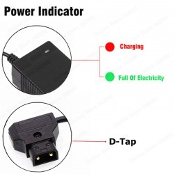 V-Mount/V Lock Battery Charger with D-tap Plug for Camcorders and select LED Lights