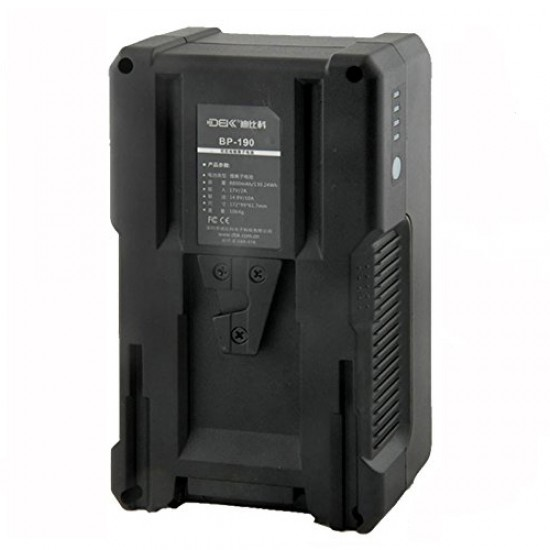 DBK BP-190 V-Mount LI-ION Battery with LG M36 cells for Camcorders & LED Video Lights