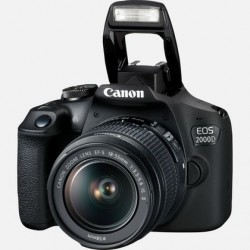 Canon EOS 2000D DSLR Camera with EF-S 18-55 mm f/3.5-5.6 IS III Lens, Black