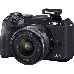 Canon EOS M6 Mark II Mirrorless Digital Camera with 15-45mm STM Lens and EVF
