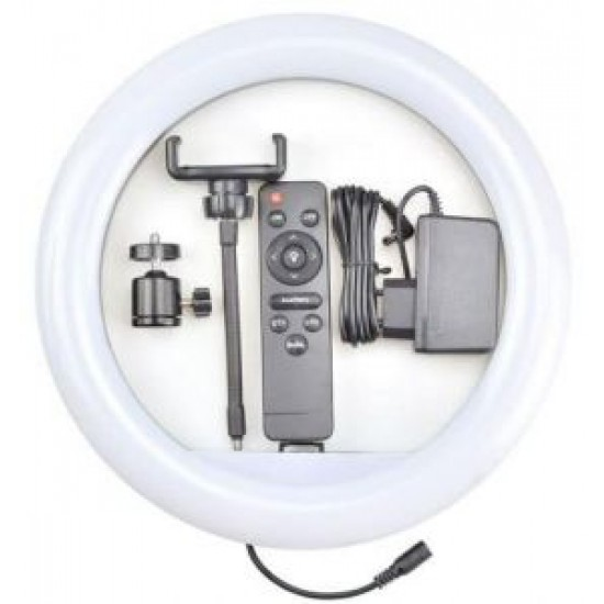 """12"""" Dimmable USB Ring Light for smartphones with Remote controller"""