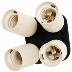 Fancier studio 4 Socket Adapter 4 in 1 Adapter Holder E27 Bulb Lamp Light Socket Splitter For Photo Studio