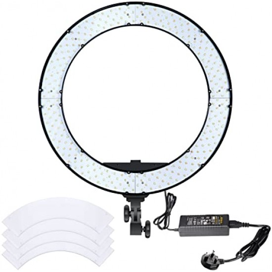 18 inches Outer 55W Bi-color Dimmable LED Ring Light Kit