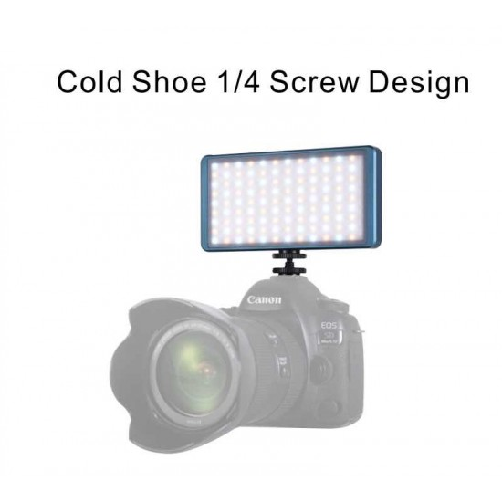 Falcon Eyes F7 PocketLite RGBW LED Video Camera Light with Diffuser and Grid