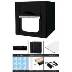 80*80*80CM LED Photography Studio Lightbox Light Tent with 3 backgrounds