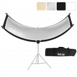 Selens 4 in 1 60 x 180 cm U-Shape Curved Light Reflector Kit