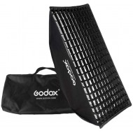 Godox 50cm x 130cm Bowens Mount Grid Softbox for Strobes