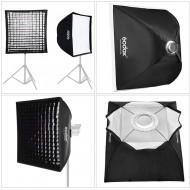 Godox 60cm x 60cm Bowens Mount Grid Softbox for Strobes