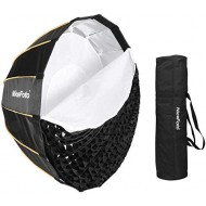 Nicefoto 90cm/35.43 inches Deep Parabolic Quick Set-up Bowens Mount Softbox with Grid for Studio Flashes and LED Lights