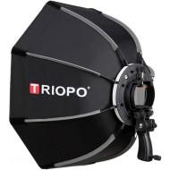 "Triopo 90cm / 35"" Deep Octagon Umbrella Speedlite Softbox with Flash Bracket"