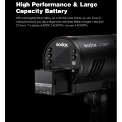 Godox AD300 Pro TTL Battery-Powered Wireless Pocket Flash Strobe