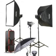 Godox MS300-D 3-Monolight Kit 900W Studio Strobe Kit (3 heads)
