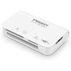 PISEN 3-in-1 Card Reader for SD/CF/TF Cards USB 3.0