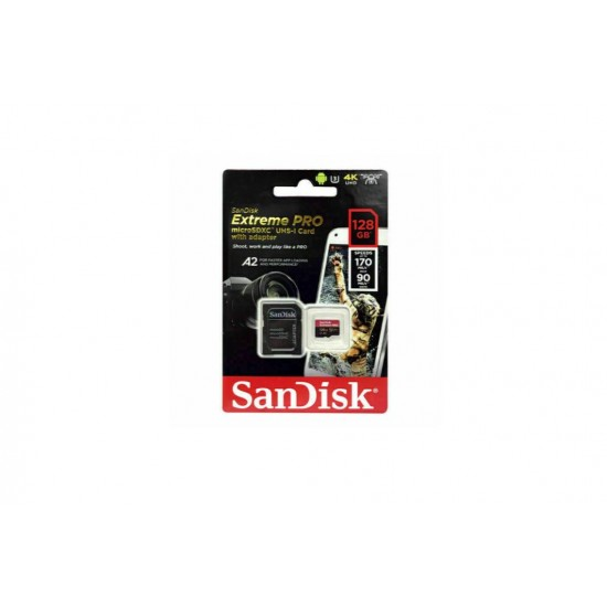 SanDisk 128GB Extreme Pro (170MB/S) Micro SDXC Card