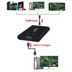HCA11 USB 3.0 HDMI Video Capture Card with Two Ports