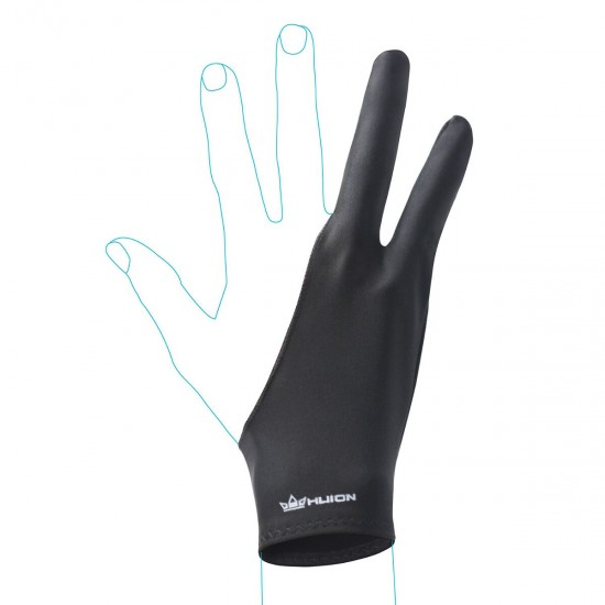 HUION Anti-Fouling Tablet Glove for Artists with Drawing Tablets (In Multiple Sizes - Black)
