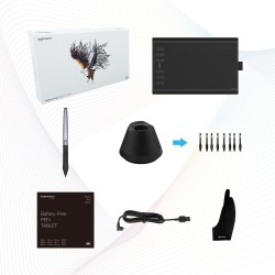 Huion Inspiroy H1060P Graphics Tablet with Battery-Free Stylus and Tilt Response