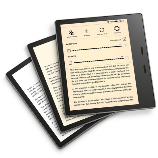 All-new Kindle Oasis E-Reader with adjustable warm light
