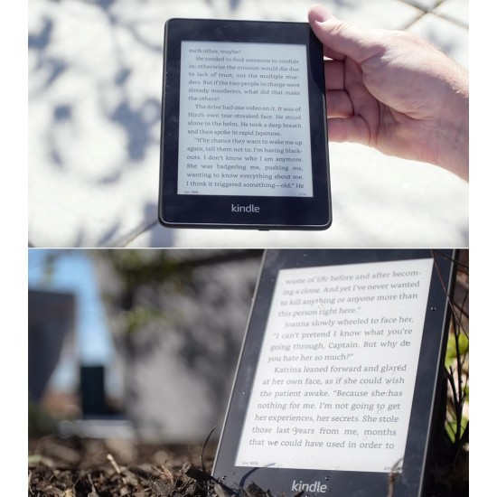 Amazon Kindle Paperwhite E-reader - 10th Generation, 8GB storage and now Waterproof (Black)