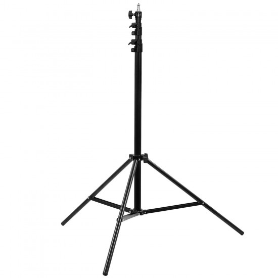 """2.8m Heavy Duty Air Cushioned Aluminium alloy Light Stand with 1/4"""" and 3/8"""" spigot adaptor"""