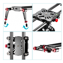 Neewer 80cm Carbon Fiber Camera Track Slider Video Stabilizer Rail for DSLRs and Camcorders