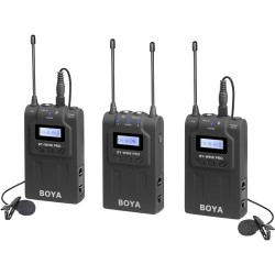 BOYA BY-WM8 Pro-K2 UHF Dual-Channel Mono/Stereo Wireless Lavalier System
