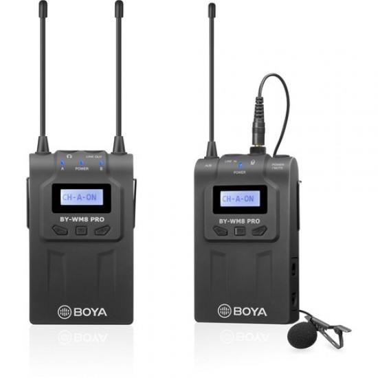 BOYA BY-WM8 Pro-K1 UHF Mono/Stereo Dual-Channel Wireless Lavalier Microphone System