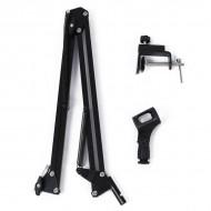 Adjustable Studio Microphone Suspension Scissor Arm Stand (Black)