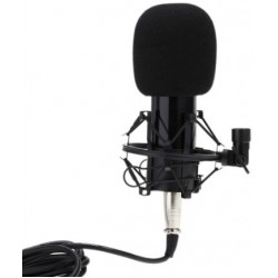 BM-800 Condenser Recording Microphone with Shock Mount - Black