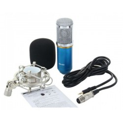 BM-800 Condenser Recording Microphone with Shock Mount - Blue