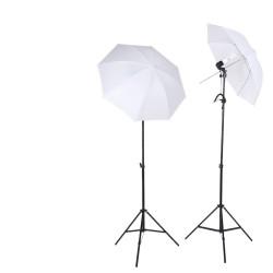 E27 Lighting With Stand and Umbrella (2 Set Kit)