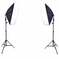 E27 Lighting With Stand and Softbox (2 Set Kit)