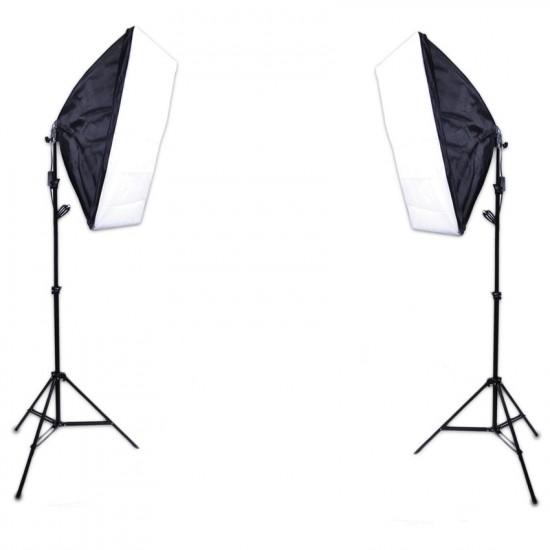 E27 Lighting With Stand and Softbox (2 Set Kit)