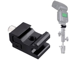 Camera Metal Cold Shoe Flash Stand Adapter