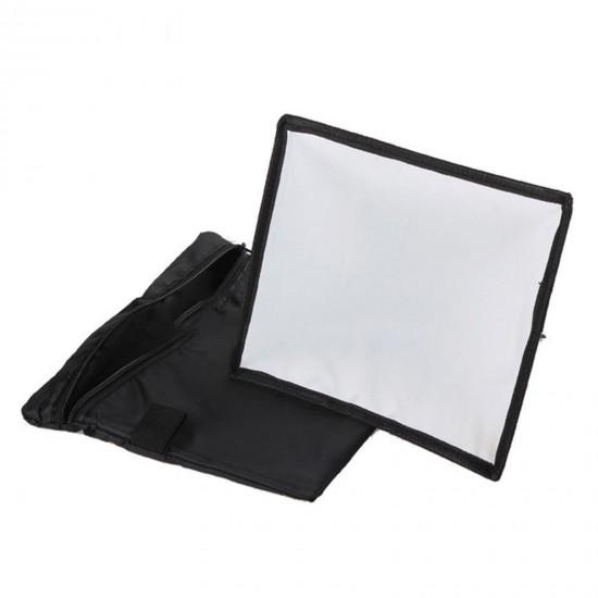"17x15cm/7""x 6"" Portable Rectangular Mini-Soft Box for speedlites"