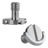 """Stainless Steel 1/4"""" D-Ring Mounting Screw for Camera, Tripod and Monopod Quick Release Plate"""