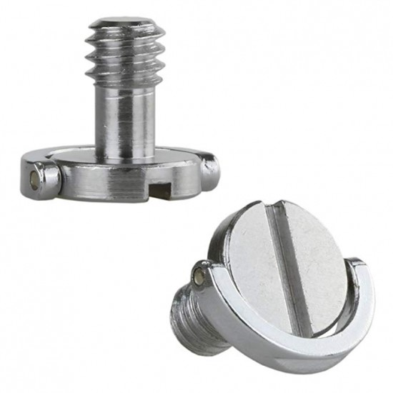 "Stainless Steel 1/4"" D-Ring Mounting Screw for Camera, Tripod and Monopod Quick Release Plate"