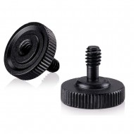 """Quick Release Thumb Screw with 1/4"""" Female Socket and 1/4"""" Male Thread"""