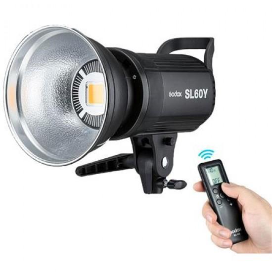 Godox SL-60Y LED Bowens Mount Video Light 3300K (Tungsten-Balanced)