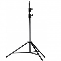 2.6M Spring-cushioned aluminium alloy studio light stand